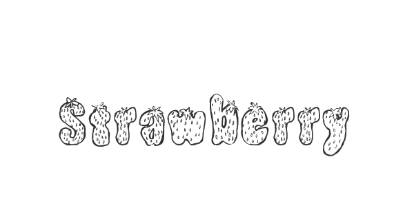 Strawberry font thumbnail