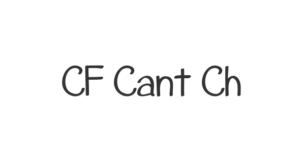 CF Cant Change The World font thumbnail