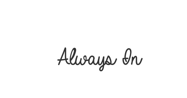 Always In My Heart font thumbnail