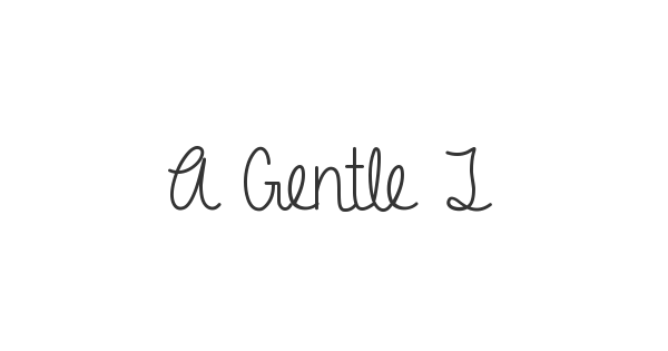 A Gentle Touch font thumbnail