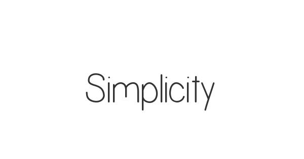 Simplicity font thumbnail