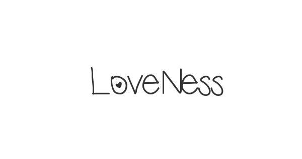 LoveNess font thumbnail