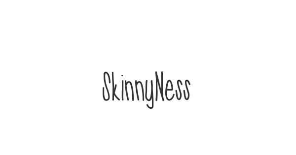 SkinnyNess font thumb