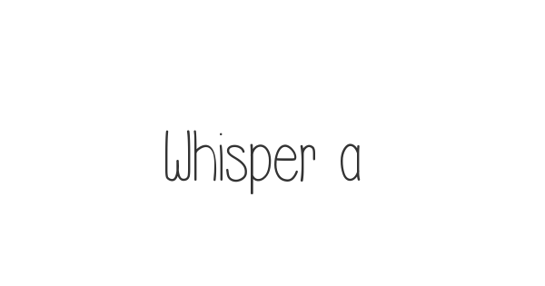 Whisper a Dream font thumbnail