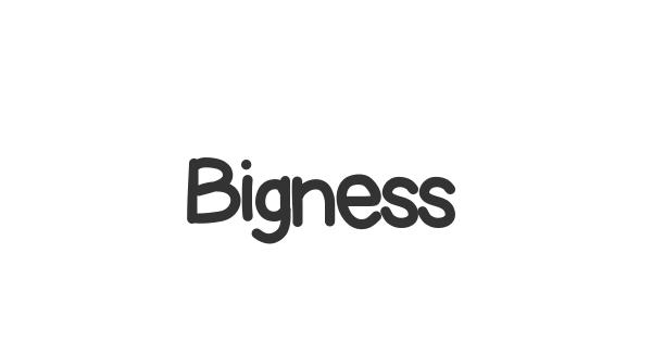 Bigness font thumb