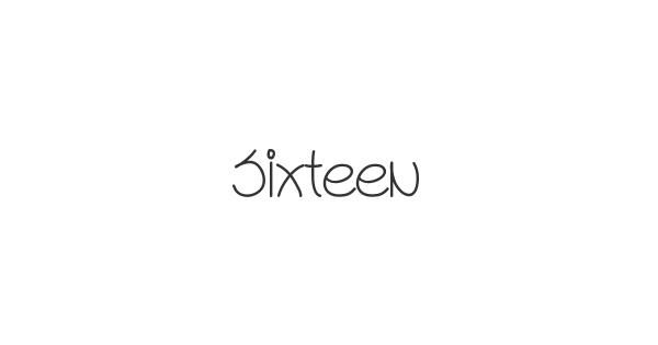 Sixteen font thumb