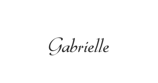 Gabrielle font thumbnail
