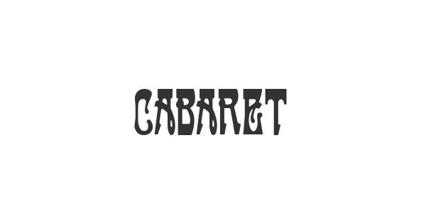 Cabaret font thumbnail