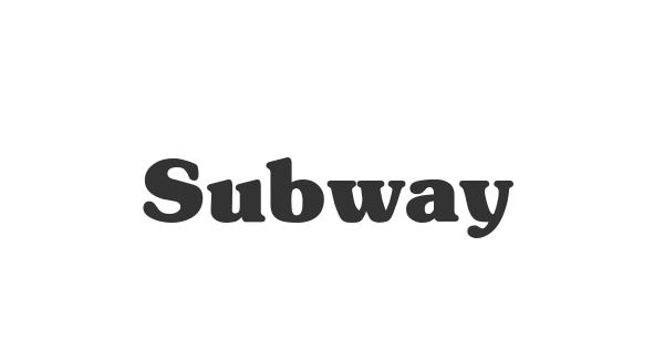 Subway font thumb
