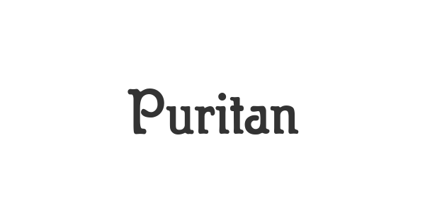 Puritan font thumb