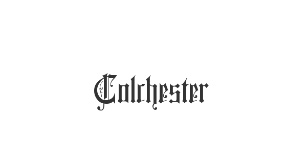 Colchester font thumb