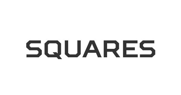 Squares font thumb