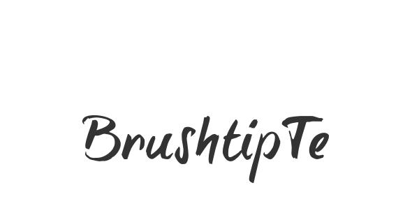 BrushtipTexe font thumbnail