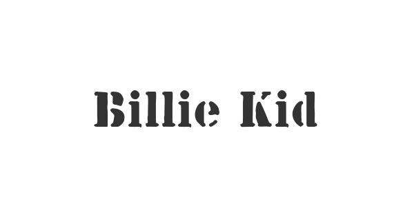 Billie Kid font thumb