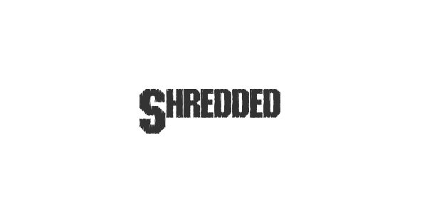 Shredded font thumb