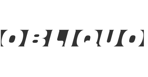 Obliquo font thumb