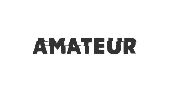 Amateur font thumbnail