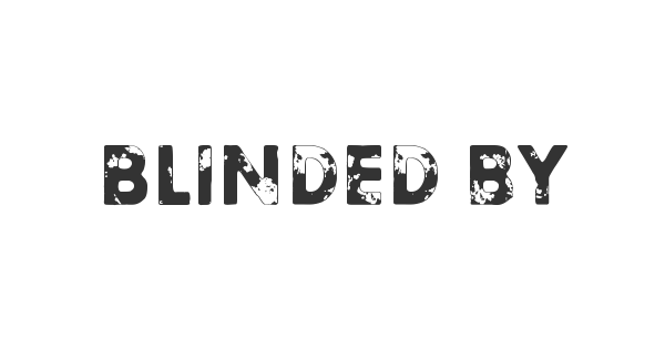 Blinded by desire font thumb