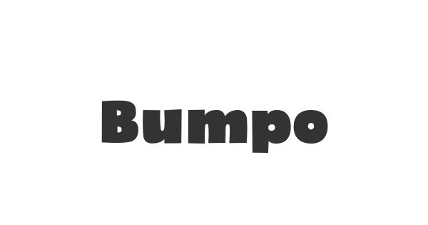 Bumpo font thumb