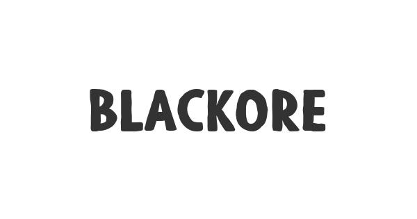 Blackore font thumb