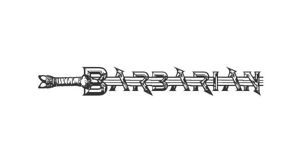 Barbarian font thumb