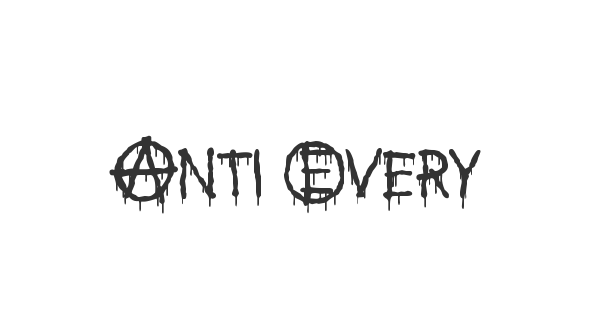 Anti Everything font thumbnail