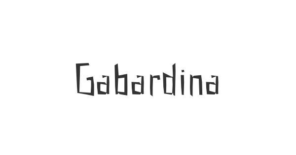 Gabardina font thumb