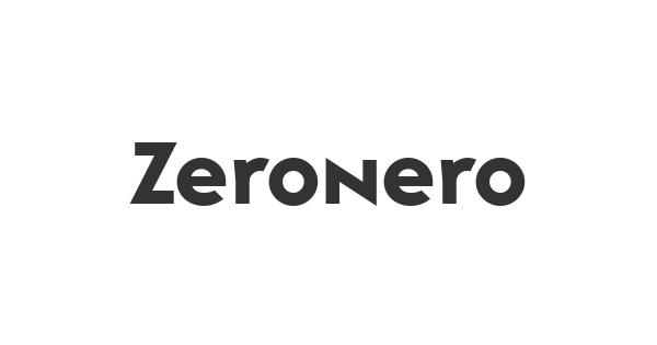 Zeronero font thumb