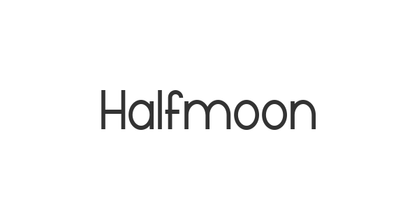 Halfmoon font thumb