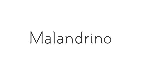 Malandrino font thumb