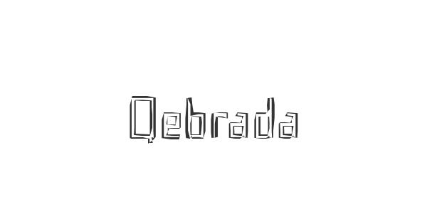 Qebrada font thumb