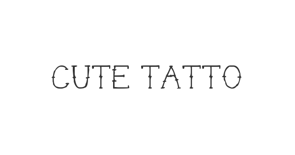 Cute Tattoo font thumb