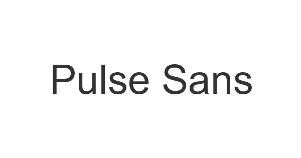 Pulse Sans Virgin font thumb