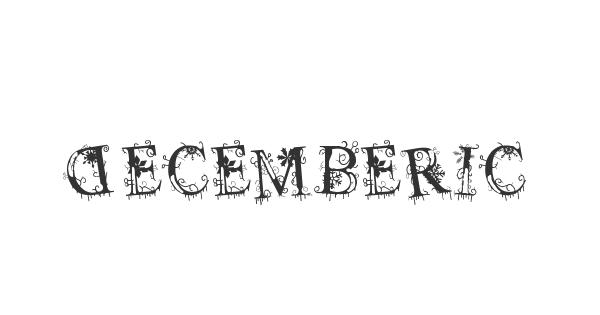 Decemberice font thumb