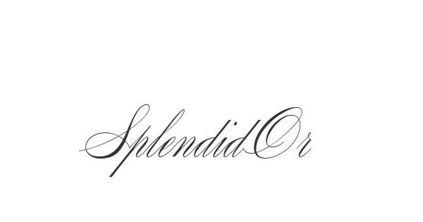 SplendidOrnamenty font thumbnail