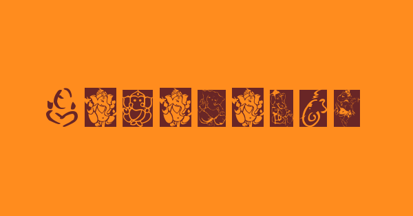 Ganapathi font thumb