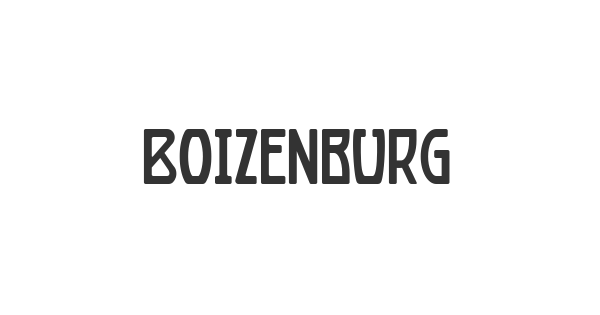 Boizenburg font thumb