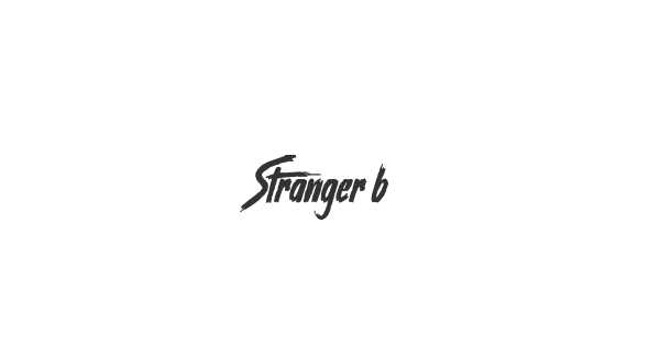 Stranger back in the Night font thumb