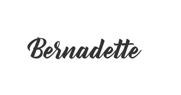 Bernadette font thumb