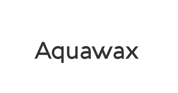 Aquawax font thumbnail
