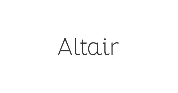 Altair font thumb