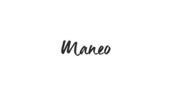 Maneo font thumb